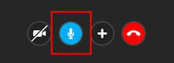 マイクオンオフ切り替えボタン